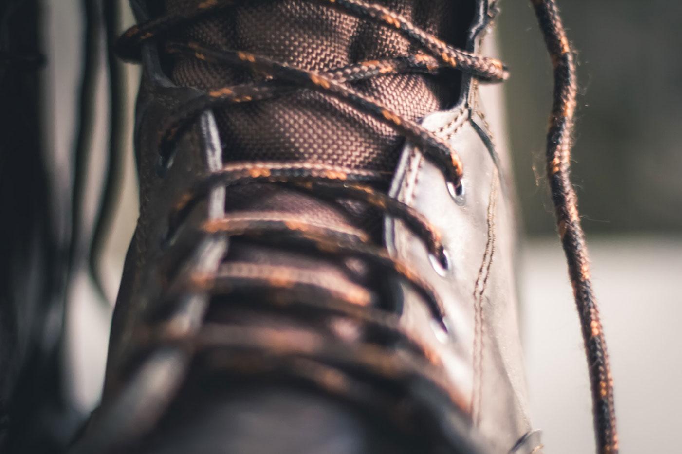 closeup of a boot