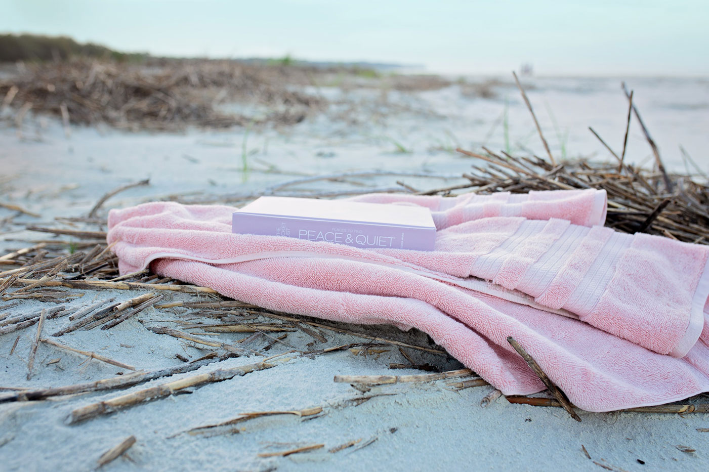a beach towel on the beach