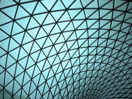 a geometric architectural patern