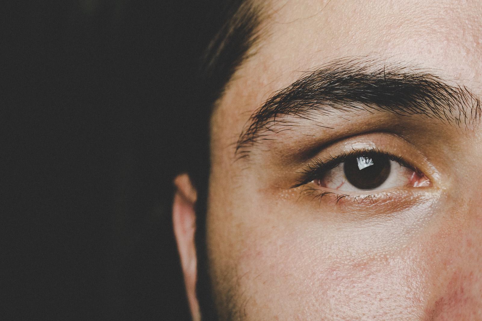 close up of a man's face