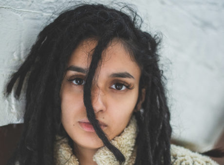portrait of a mixed-race woman