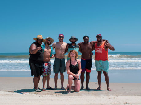 group of diverse people on a beach